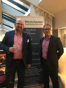 Tyler Carey and Tim Davies at the Westchester Publishing Services UK launch party