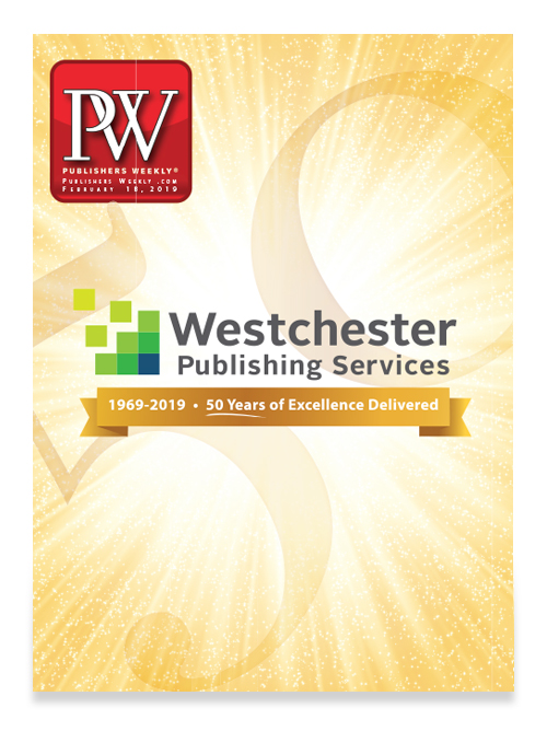 Westchester Publishing Services PW 50th Anniversary Cover Wrap