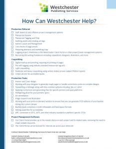 Westchester Services Checklist