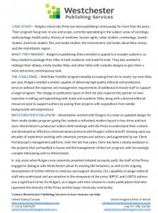 Rutgers University Press case study