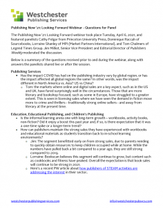 Document summarizing the questions and answers provided for the Publishing Now '21 webinar
